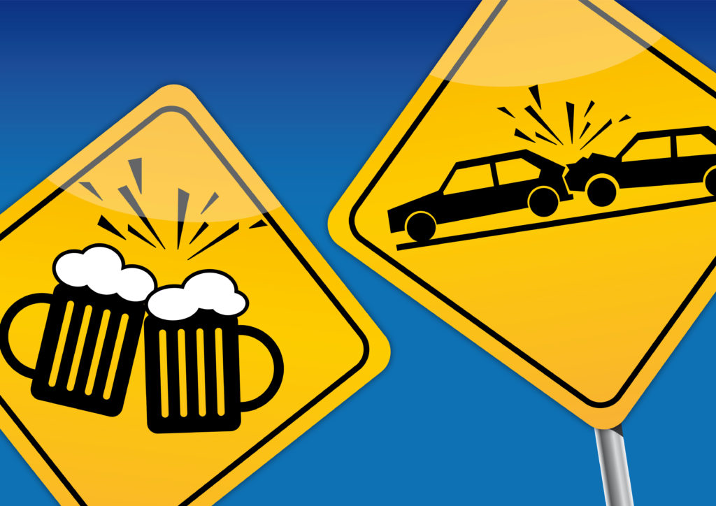 Road Signs Signifying Drunk Driving
